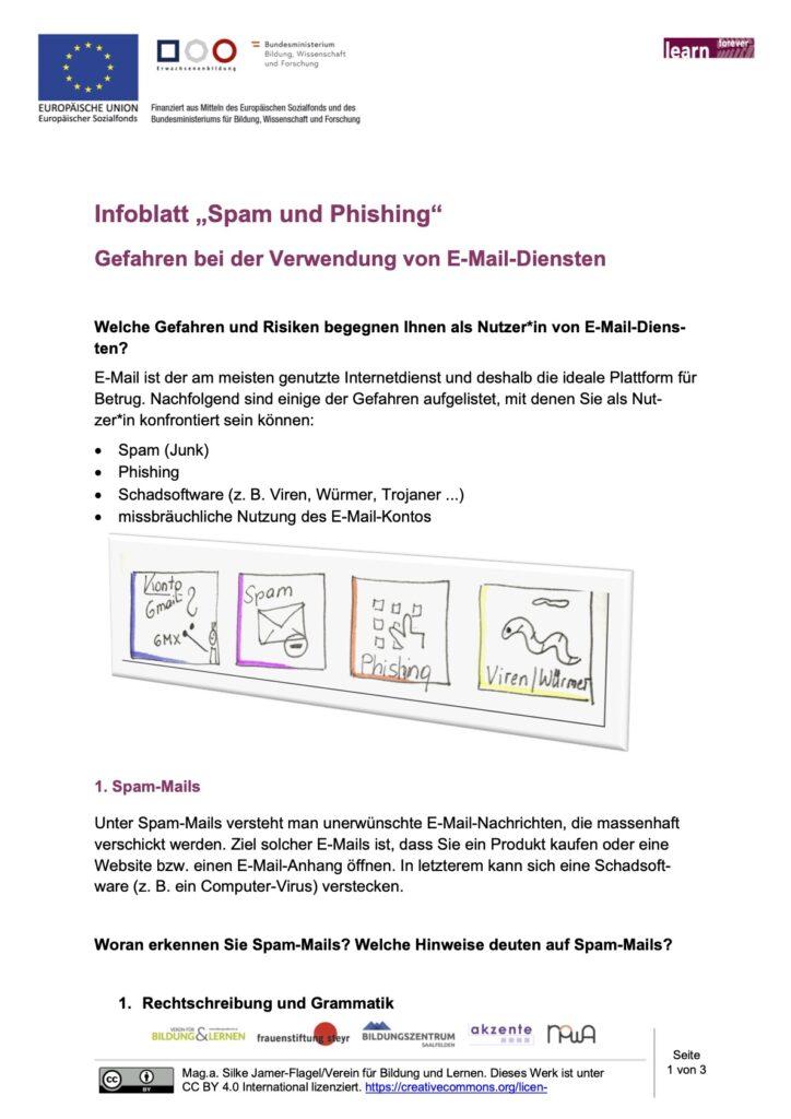 Microsoft Word - Infoblatt_Spam und Phishing